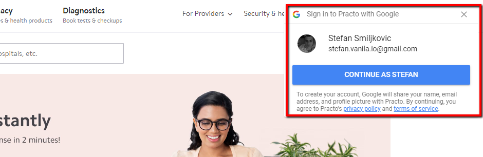 Google login/sign-in user experience